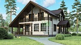 Удобный, надежный, представительный – таких эпитетов достоин жилой дом на фото