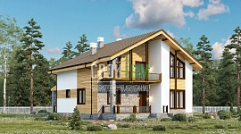 Дом с мансардой, террасой, имеющий все удобства современной цивилизации, спланирован для семьи из 5-7 человек.