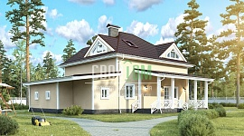 Мансардный дом с террасой и всеми городскими удобствами, спланирован для семьи из 5-7 человек.